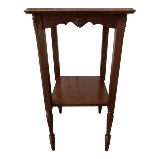 20th Century French Provincial Wooden Side Table For Sale