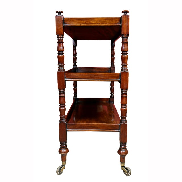 Regency Mahogany Book Trolley For Sale - Image 9 of 11