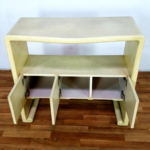 White Mid-Century Harrison Van Horn Style Console Sofa Table For Sale - Image 8 of 13