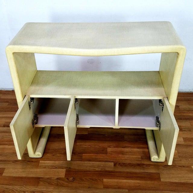 Mid-Century Harrison Van Horn Style Console Sofa Table | Chairish