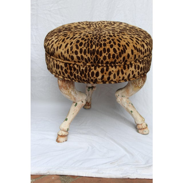 Empire Vintage 20th Century French Stools- a Pair For Sale - Image 3 of 6
