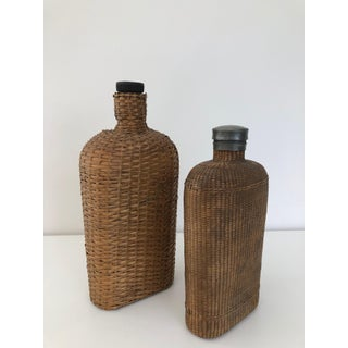 Large Pair of Wicker Flasks Preview