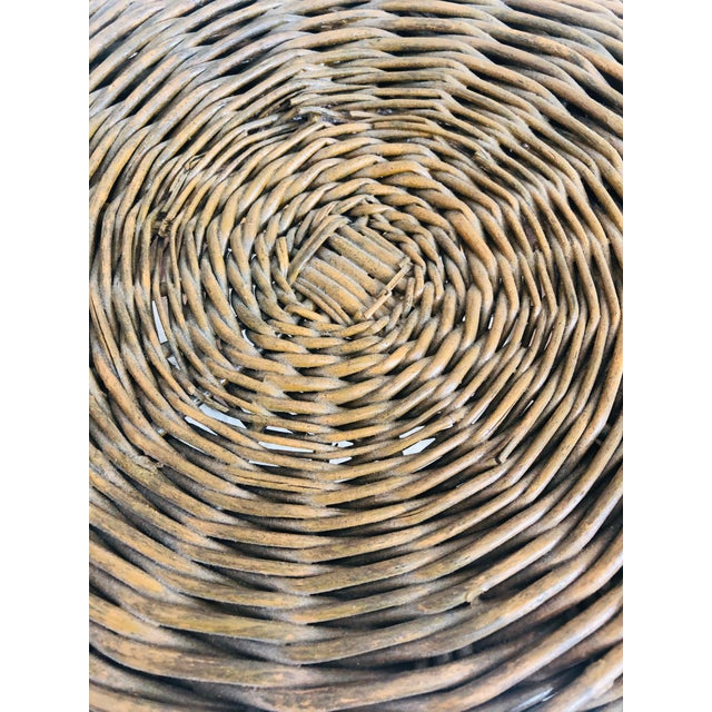 Wicker Vintage Tony Paul Wicker Stool For Sale - Image 7 of 10