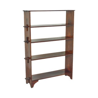 Studio Crafted Solid Mahogany Mortise & Tenon Dovetail Open Bookcase