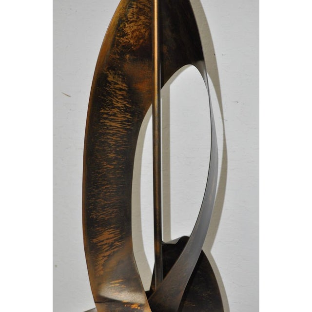 C.1960s Harry Balmer Sculptural Steel & Bronze Lamp - Image 5 of 9