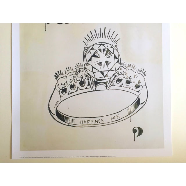 "Illustration Andy Warhol Foundation Lithograph Print Pop Art Poster "" 1 Carat Happiness "" 1961 For Sale - Image 3 of 11"