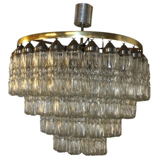 20th Century Tronchi Murano Glass Four Tier Chandelier For Sale