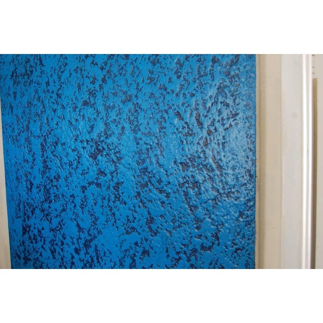2010s Contemporary Blue Navy Abstract Painting by Artist John Frates For Sale - Image 5 of 6