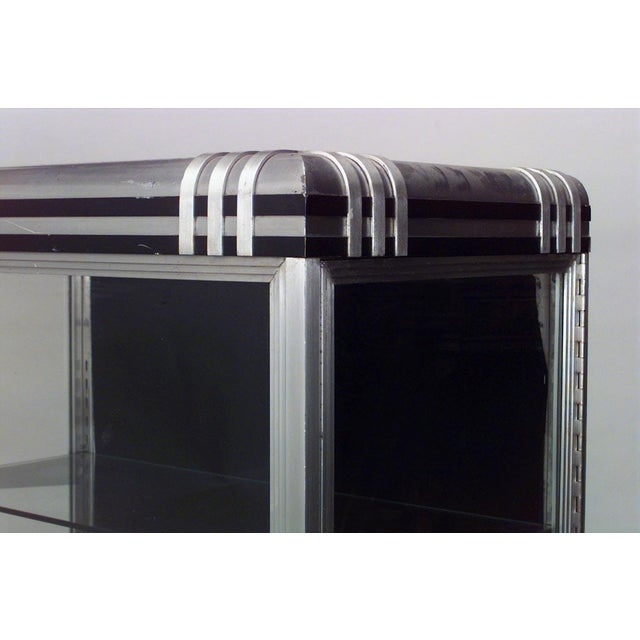 Art Deco French Art Deco Steel and Glass Vitrine (Display) Cabinet For Sale - Image 3 of 4
