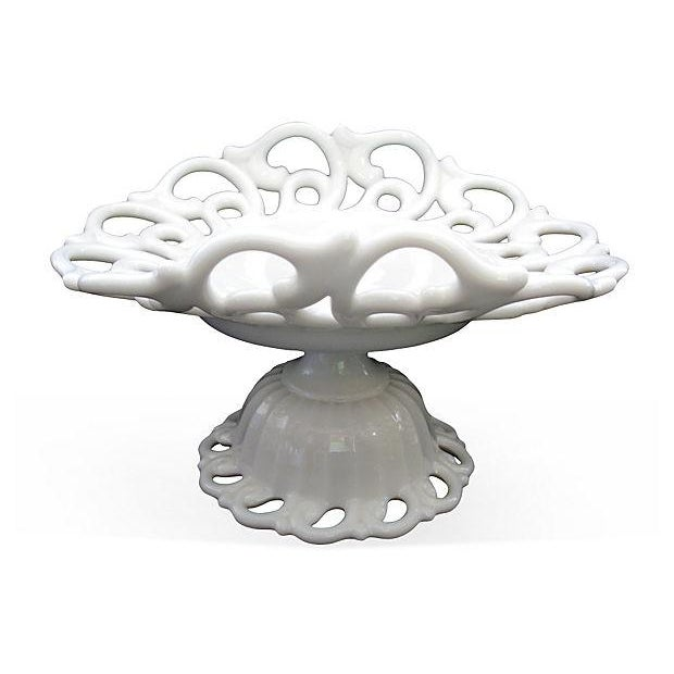 Fenton Milk Glass Footed Comport - Image 5 of 6