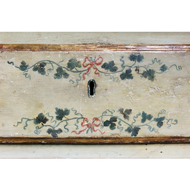 Late 18th Century Italian Rococo Lacca Povera Painted Commode For Sale - Image 5 of 11
