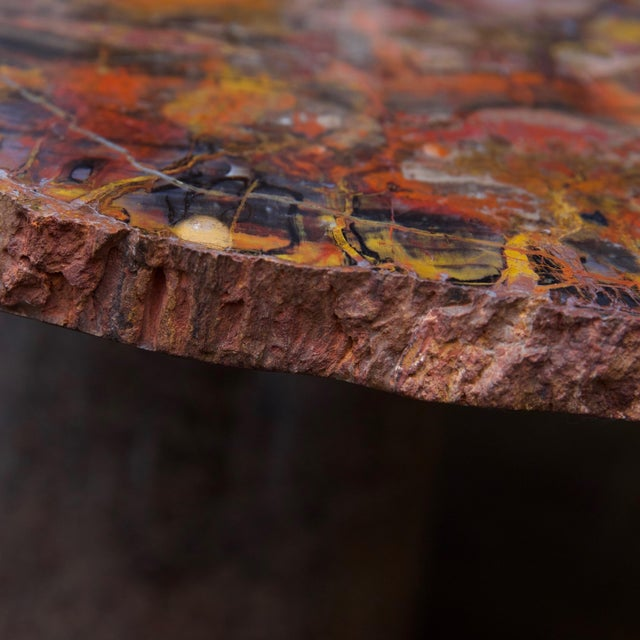 Contemporary Karl Springer Petrified Wood Side Table For Sale - Image 3 of 10