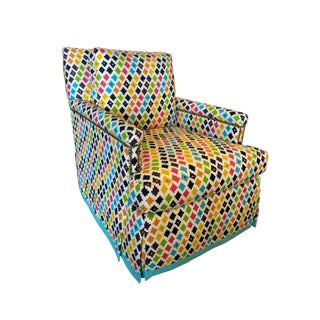 Colorful Skirted Swivel Chair For Sale