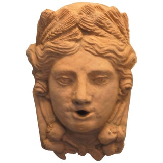 19th Century Tete Feminine Wall Mask For Sale