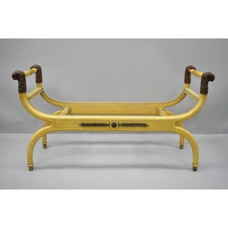 Bruschi & Rolando Regency Neoclassical Style Lion Head Curule Long X Frame Bench Preview
