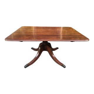 Antique 19 C English Mahogany Coffee / Cocktail Table For Sale