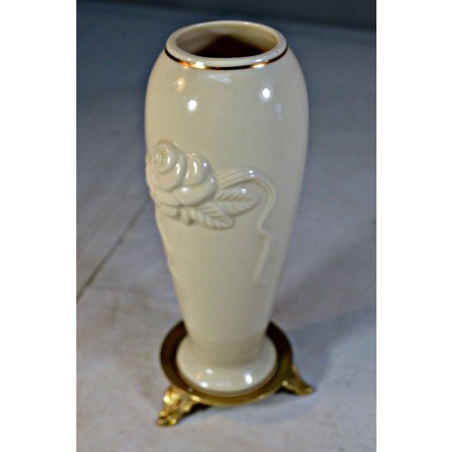 Lenox Vintage Lenox Porcelain Rosebud Vase For Sale - Image 4 of 8