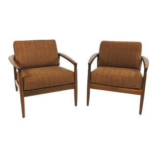Pair of Teak Lounge Chairs by Dux For Sale
