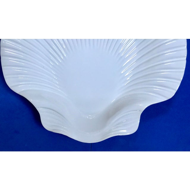 Vintage Seashell Scallop Shape White Majolica Dinner ...