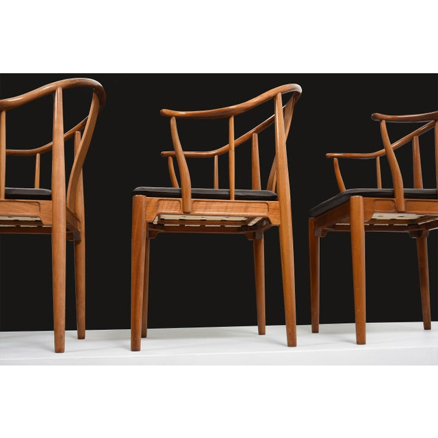 1960s Hans J. Wegner China Chairs for Fritz Hansen, Set of Four, Circa 1944 For Sale - Image 5 of 10