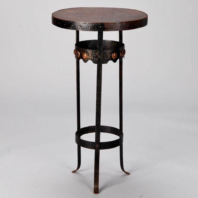 Arts And Crafts Bronze Metal Gueridon Side Table C.1930   Image 5 Of 7