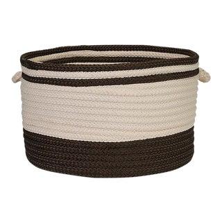 Bar Harbor Mink Band Basket 22x22x14