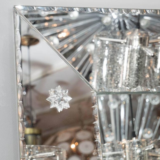 Custom Pie Crust Mirror with Ponti's For Sale In New York - Image 6 of 10