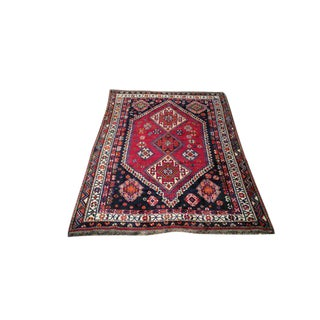 Vintage Persian Hand Made Knotted Wool Rug - 5x8 For Sale