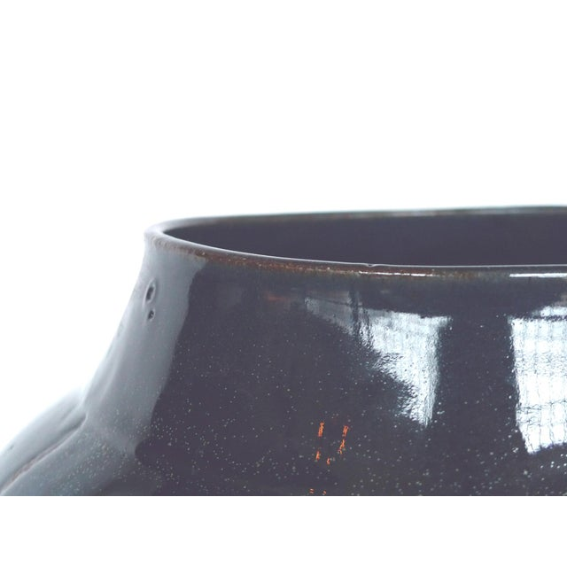 Contemporary Thom Lussier Midnight Blue Ceramic Vessel For Sale - Image 3 of 5
