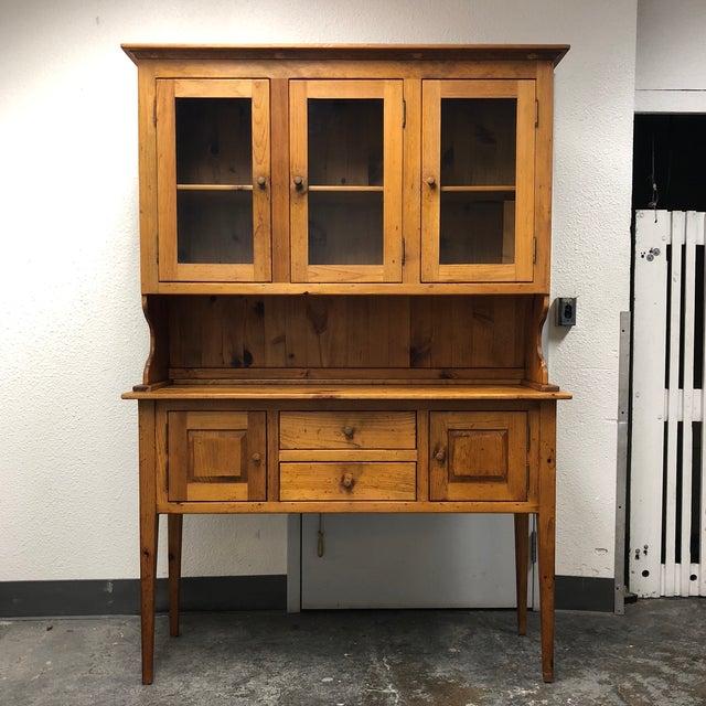Borkholder Vintage Amish Crafted Sideboard + Hutch For Sale - Image 10 of 10