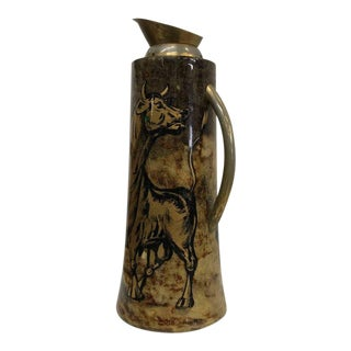 1950s Hand-Painted Pitcher by Aldo Tura Macabo Cusano For Sale
