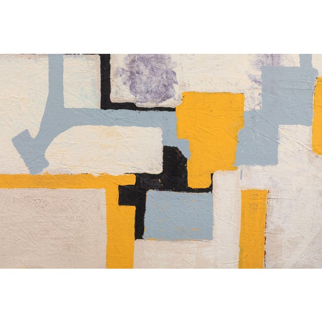 Christopher Shoemaker Gray & Yellow Abstract by Christopher Shoemaker For Sale - Image 4 of 6