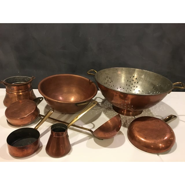 Vintage Copper Pots & Pans - Set of 8 - Image 2 of 9