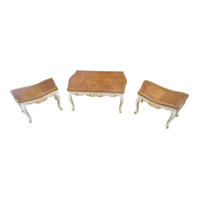 Baker Furniture French Regency Collector Series 3 Piece Coffee Table - Image 1 of 10