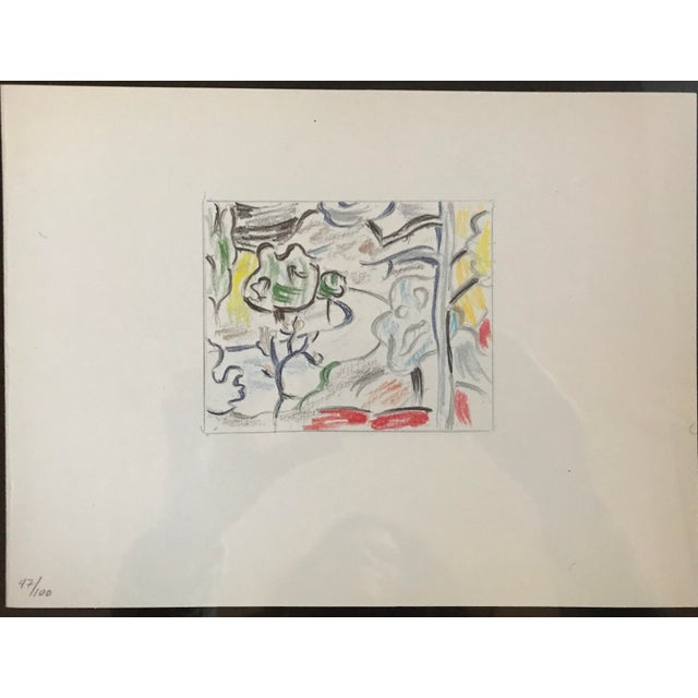 Roy Lichtenstein Professionally Framed Limited Edition Off-Set Lithograph Numbered 47/100 - Image 3 of 6
