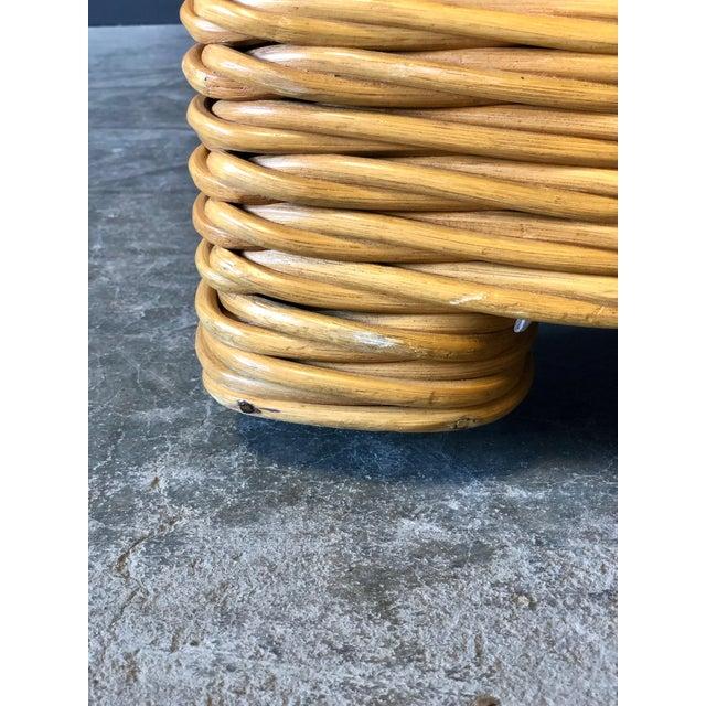 Rattan 4 Piece Modular Sofa For Sale - Image 9 of 13