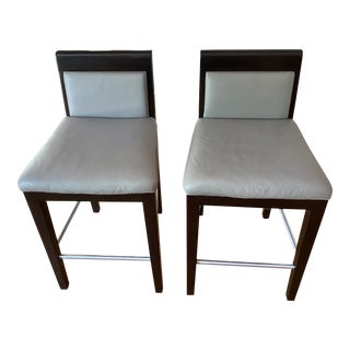 Holly Hunt Counter Stools - a Pair For Sale
