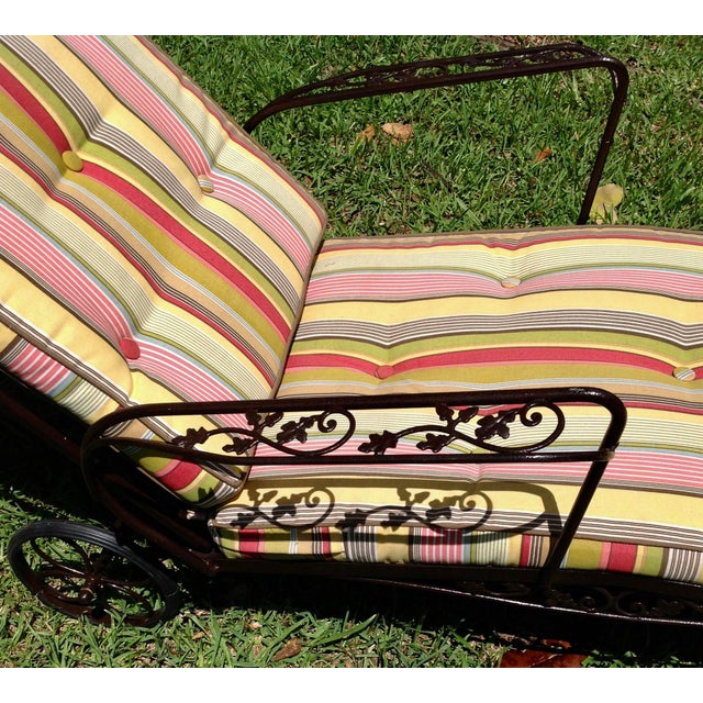 Astounding Vintage Woodard Furniture Chaise Lounge Creativecarmelina Interior Chair Design Creativecarmelinacom