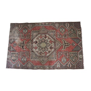 Vintage 3.5' X 5.5' Turkish Hand Knotted Wool Rug
