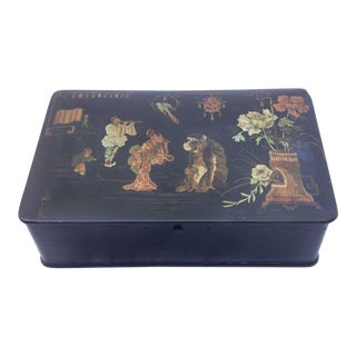 Papier Mache Chinoiserie Box For Sale