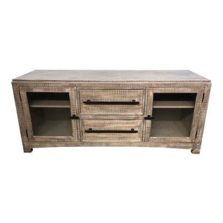 Broyhill Entertainment Console With Metal Pulls For Sale