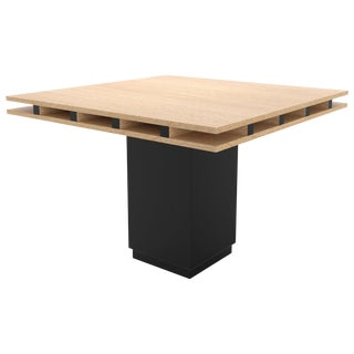 Contemporary 101 Dining Table in Oak and Black by Orphan Work, 2019 For Sale