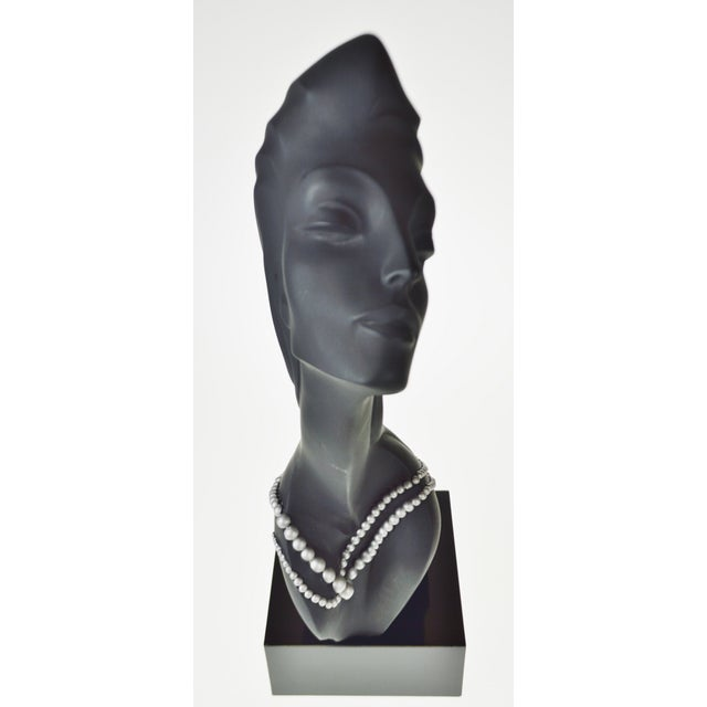 Stone Vintage 1990 Austin Productions Alexander Danel Pearls Sculpture of Woman - Rare For Sale - Image 7 of 13