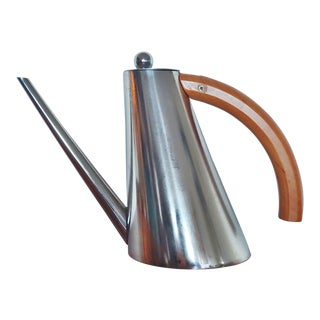 1960s Carlo Giannini Stainless Tea Kettle Oil Dispenser For Sale