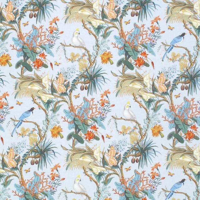 Transitional Scalamandre Cinque Terra Fabric in Coral Sky Sample For Sale - Image 3 of 3