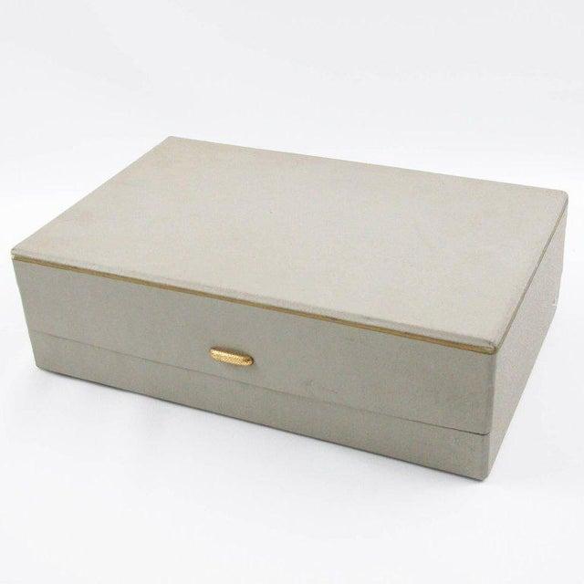 Bohemian Art Deco Vaseline Czech Glass Ashtray & Box - Image 9 of 11