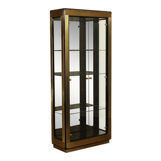 Mastercraft Mid Century Brass Display Cabinet For Sale