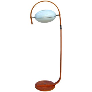 Molded Plywood and Lucite Floor Lamp For Sale