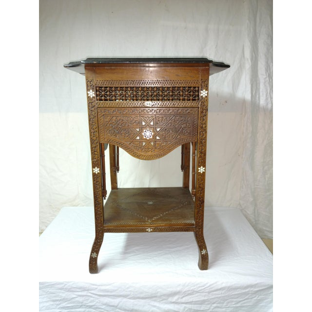 19th Century Anglo Indian Inlaid Wood Tea Table For Sale - Image 10 of 10