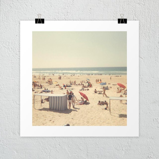 A dreamy, sun-soaked beach scene from the 60's. Unframed photography print on heavyweight, white, 100% cotton, archival...